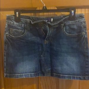 Denim Mini Skirt Size 5 Junior